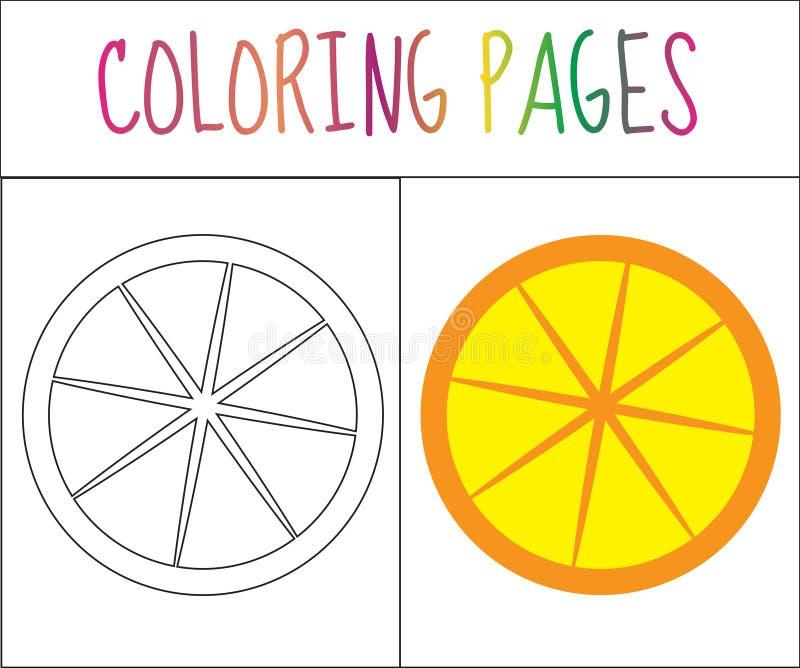 Página Del Libro De Colorear Naranja Versión Del Bosquejo Y Del ...