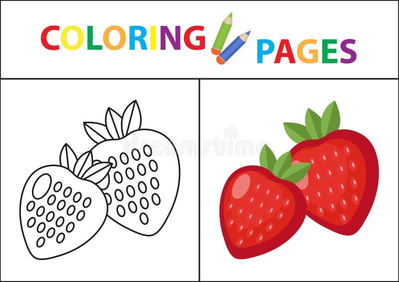 Página Del Libro De Colorear Versión Del Esquema Y Del Color Del ...