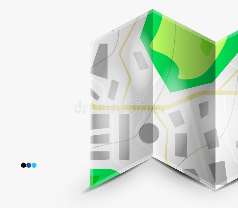 Página del mapa de la ciudad con el copyspace libre illustration