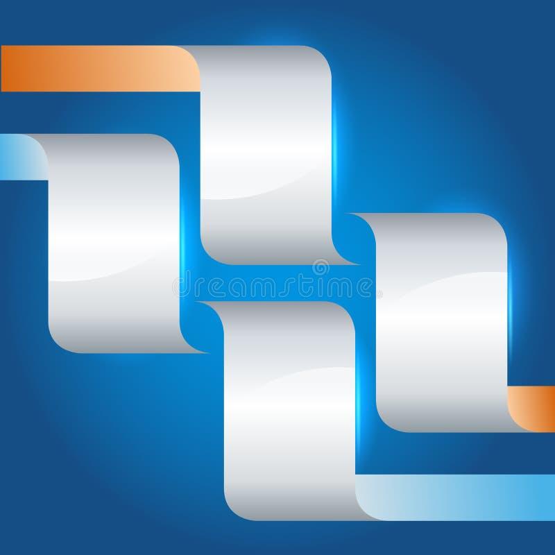 Página-disposição-apresentação-molde-projeto-elemento-azul ilustração do vetor