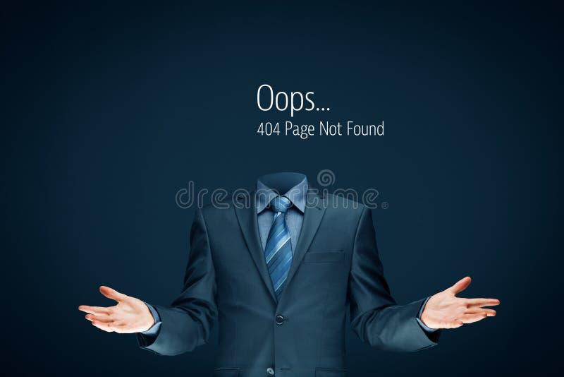 Página do erro do HTTP 404 fotos de stock royalty free