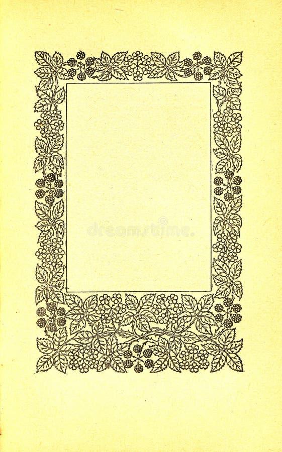 Página do livro do vintage ilustração do vetor