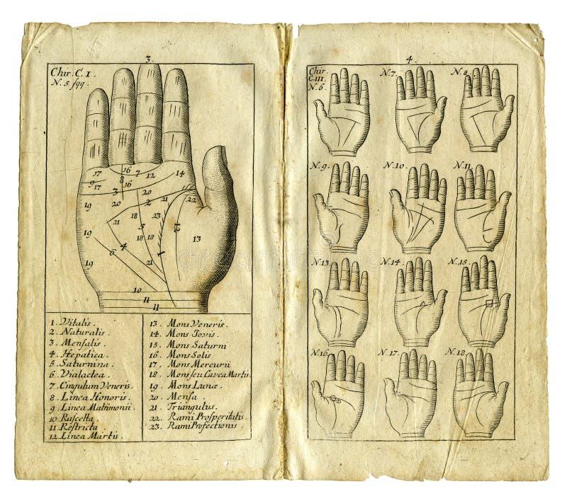 Página do livro velho de 1717 imagem de stock royalty free