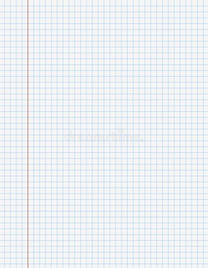 Página do papel do livro de exercício com linhas ilustração do vetor