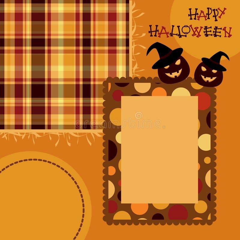 Página do scrapbook de Halloween ilustração do vetor