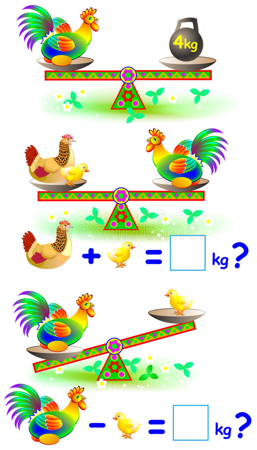 Página educacional matemática para crianças com números ilustração royalty free