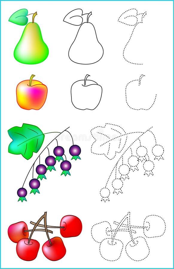 Página educacional para jovens crianças ilustração do vetor