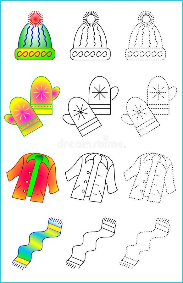 Página educacional para jovens crianças ilustração stock