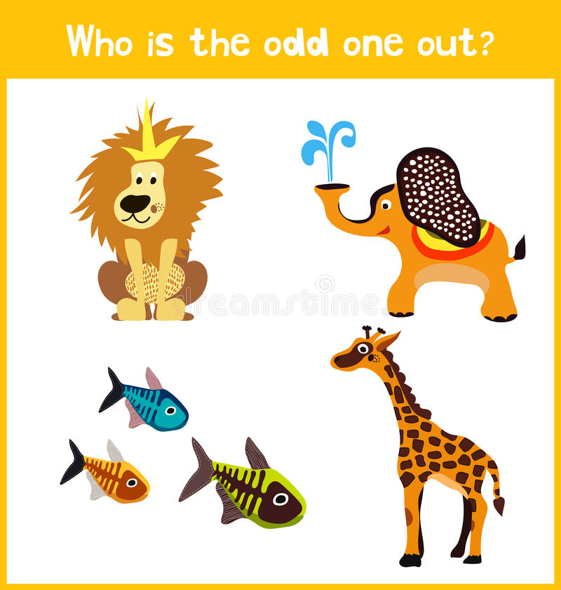 Página educativa colorida del rompecabezas del juego de la historieta de los niños para los libros y las revistas de niños en el  libre illustration
