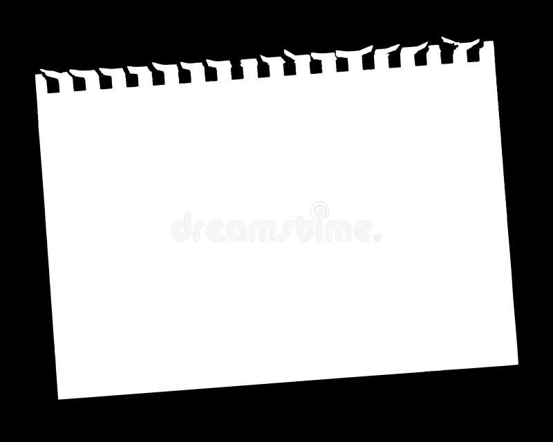 Página em branco ilustração stock