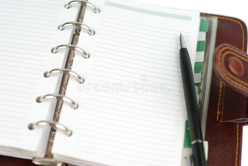 Página em branco do bloco de notas fotografia de stock royalty free