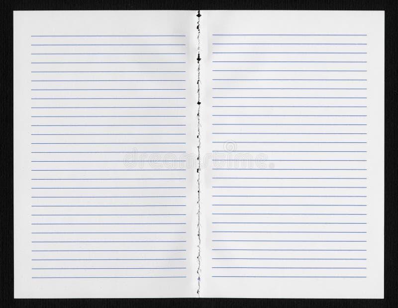 Página em branco do caderno foto de stock royalty free