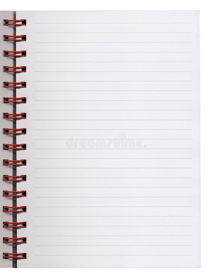 Página em branco do caderno imagens de stock