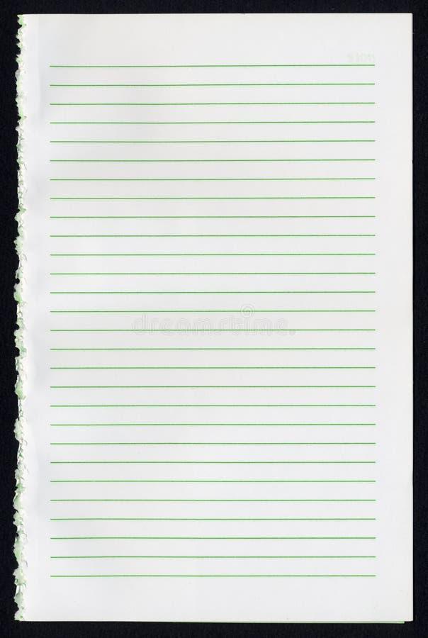 Página em branco do caderno fotos de stock royalty free