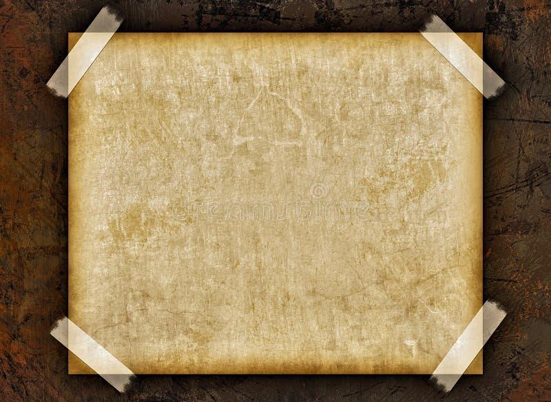 Página em branco do grunge do vintage com fitas ilustração do vetor