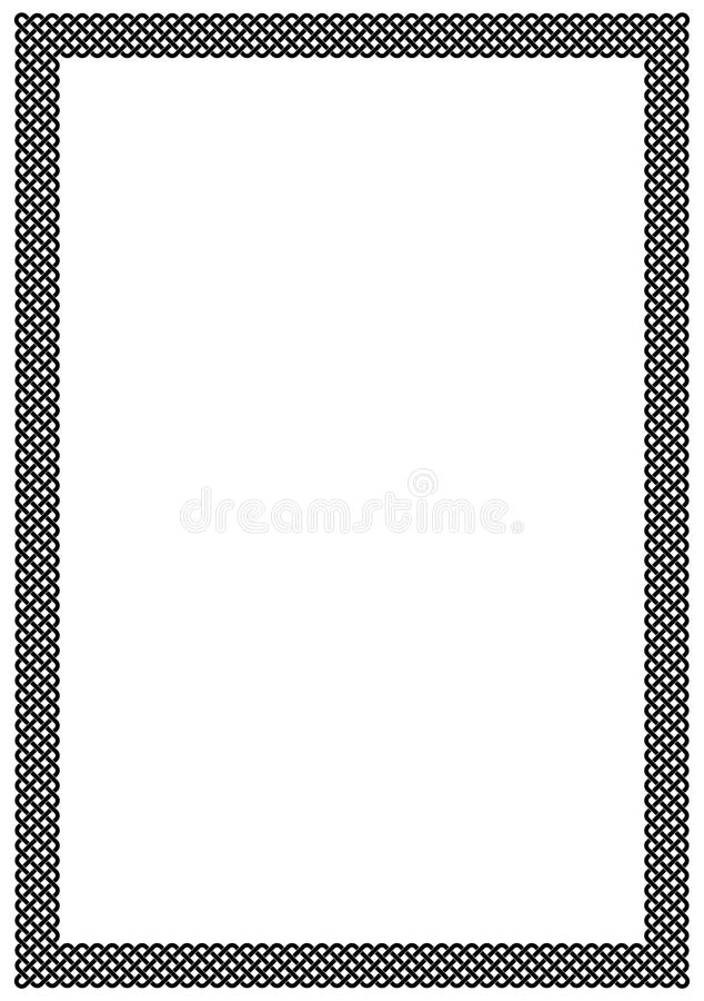 Página en blanco del marco de la trenza imágenes de archivo libres de regalías