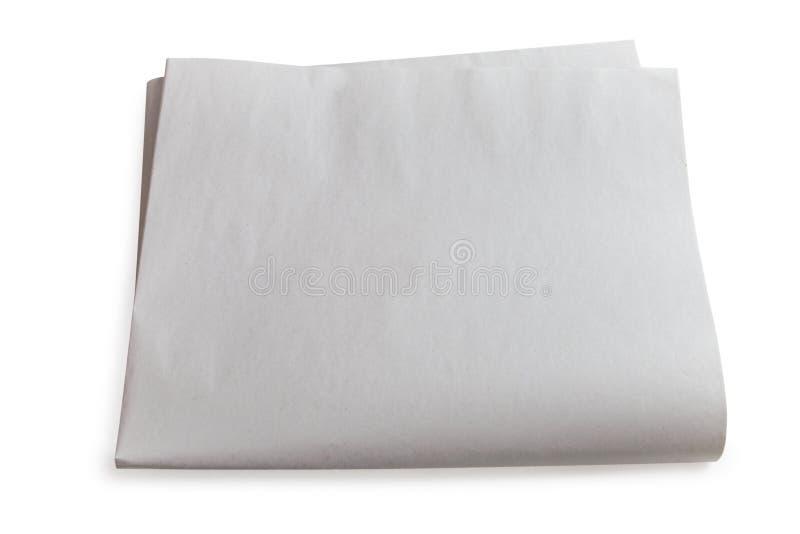 Página en blanco del periódico aislada. imágenes de archivo libres de regalías