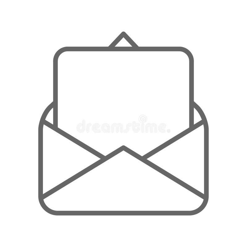 Página en blanco en vector del negro del sobre del correo ilustración del vector