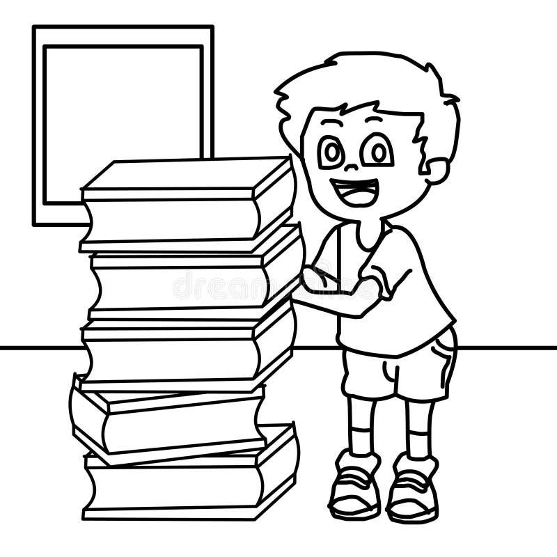 Página Estudiosa Del Colorante Del Niño Stock de ilustración ...