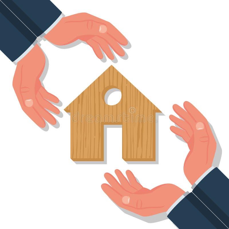 Página inicial do modelo de seguro de propriedade ilustração do vetor