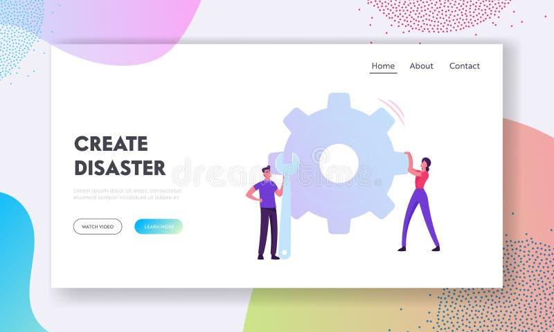 Página inicial do site Business Data Analytics e Robotic Process Automation Management ilustração stock