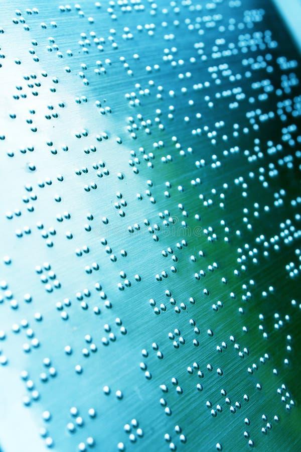 Página lisa de Braille fotos de stock