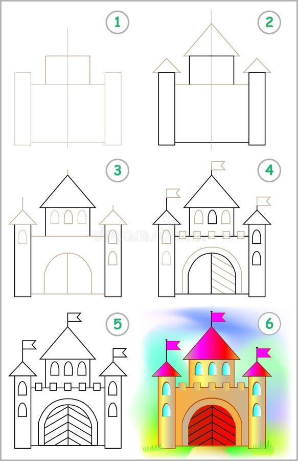 A página mostra como aprender ponto por ponto tirar uma casta ilustração royalty free