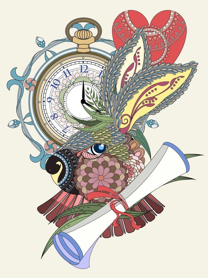 Página preciosa del colorante del conejo ilustración del vector