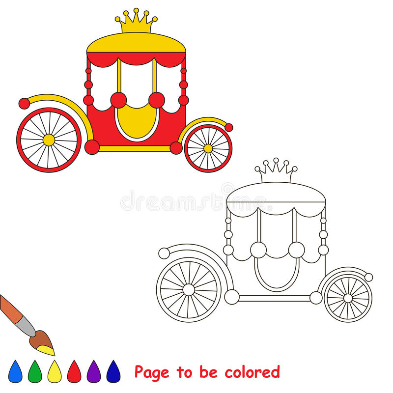 Página que se coloreará, juego simple de la educación para los niños libre illustration