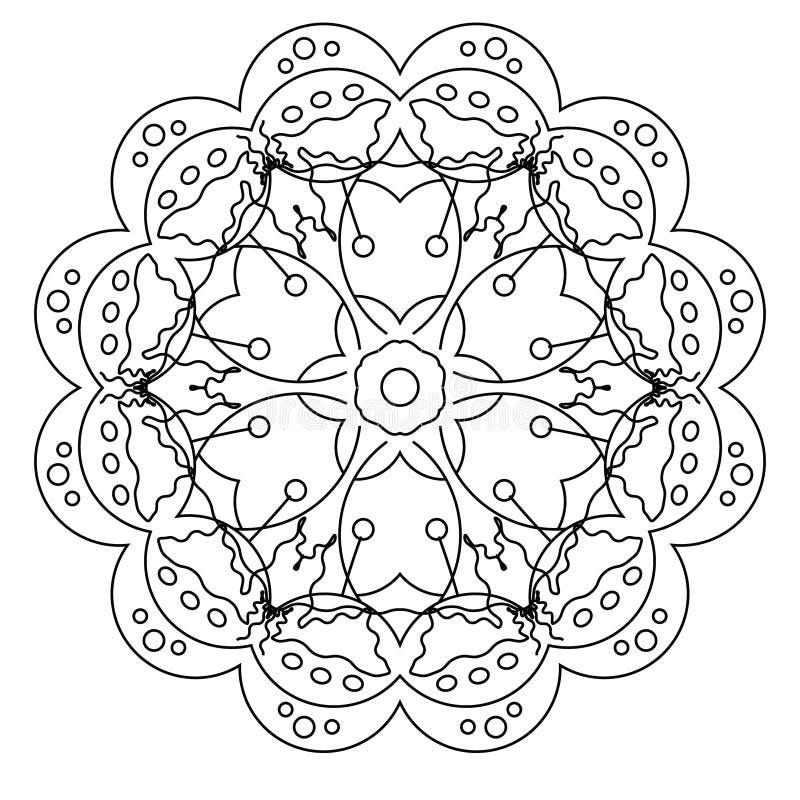 Página Relajante Del Colorante Con La Mandala Para Los Niños Y Los ...