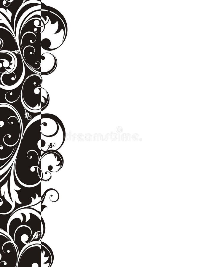 Página retro da beira do estilo ilustração stock