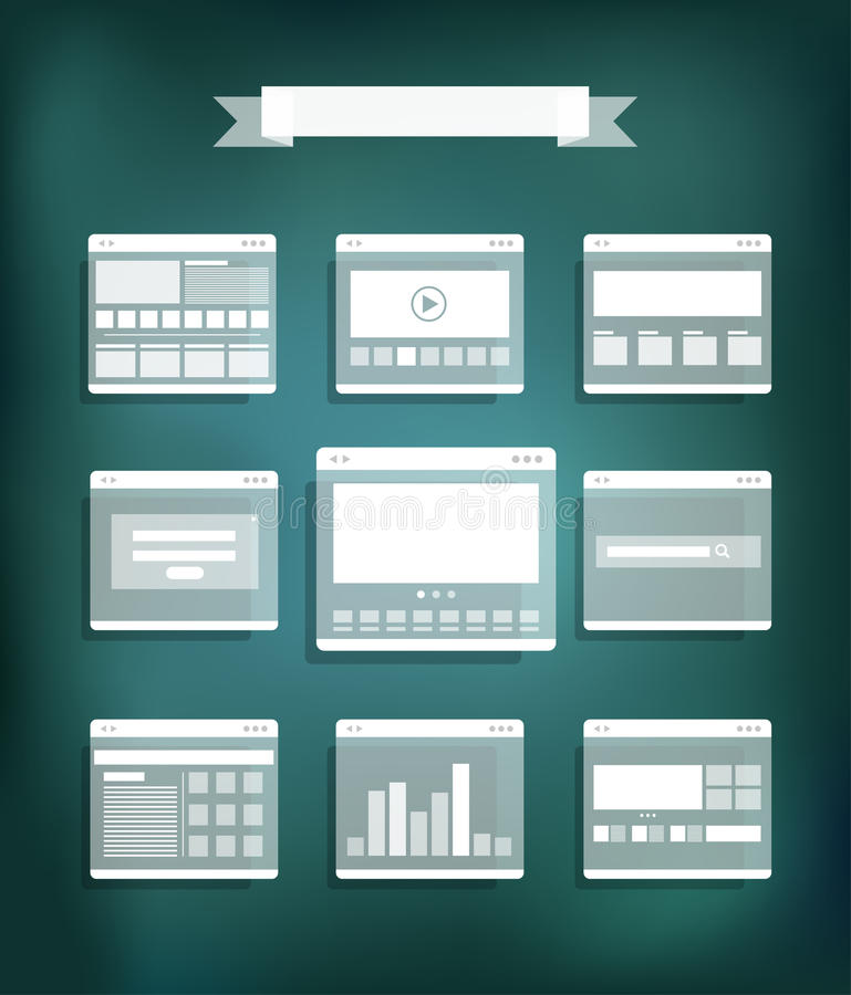 Página transparente del sitio web libre illustration
