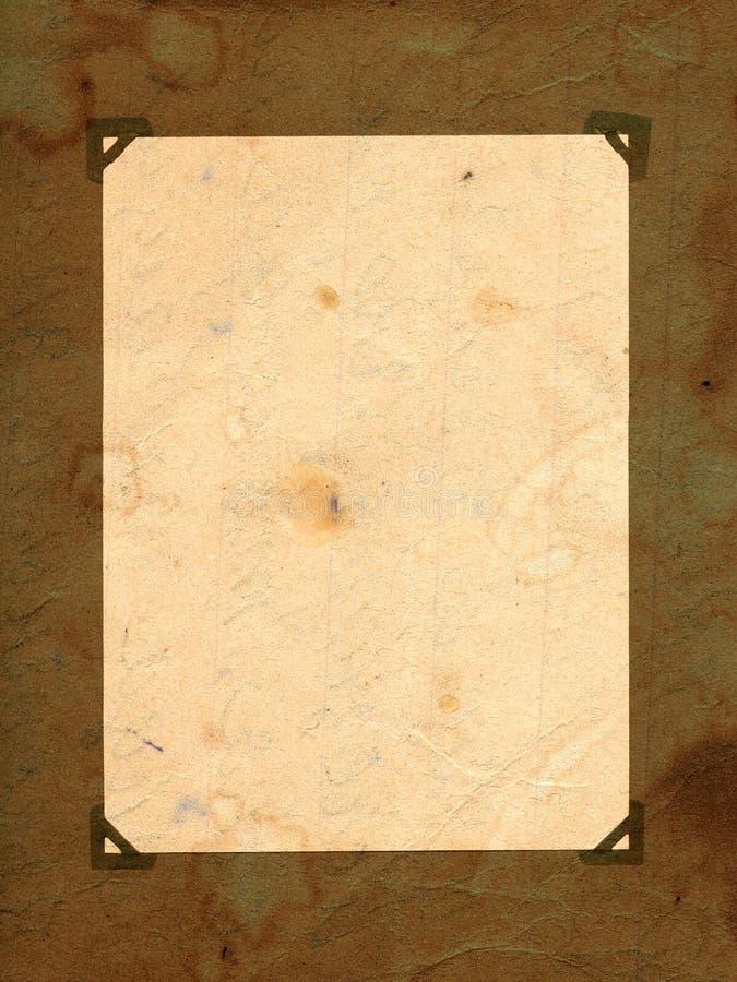 Página vacía del viejo grunge fotos de archivo libres de regalías