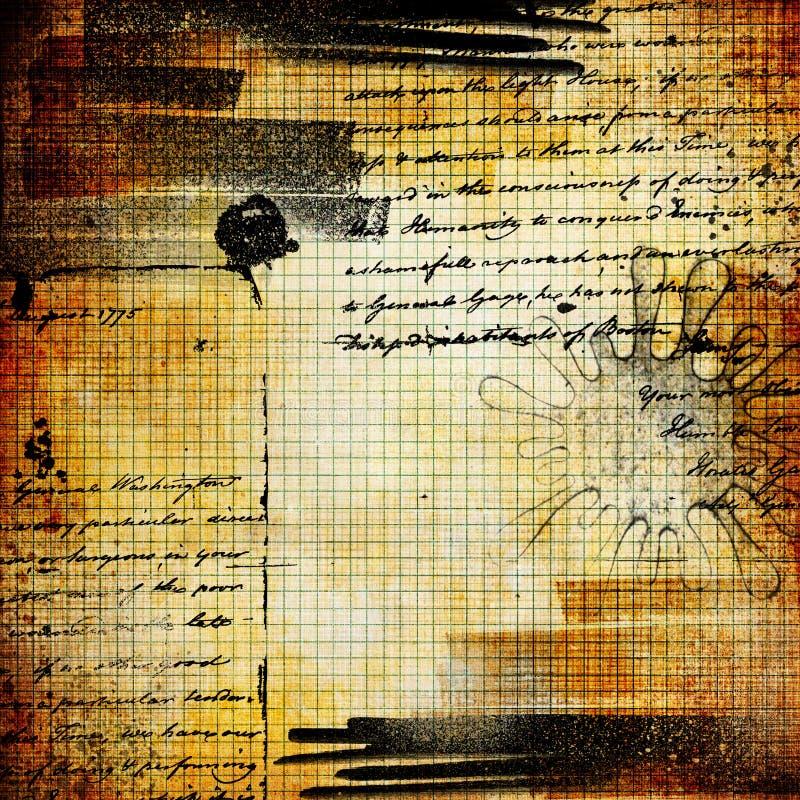 Página velha da nota ilustração do vetor