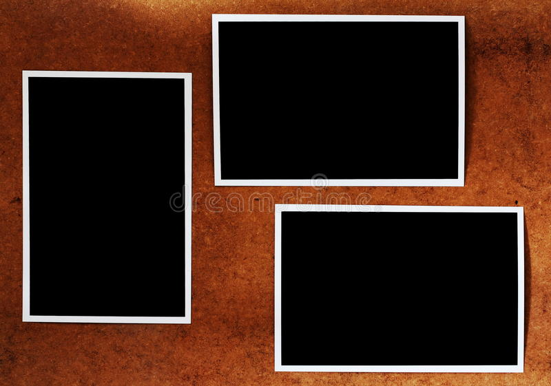 Página velha do álbum de foto imagem de stock