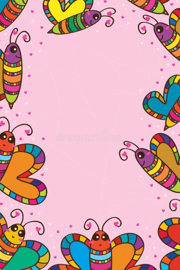 Página vertical colorida de la abeja stock de ilustración