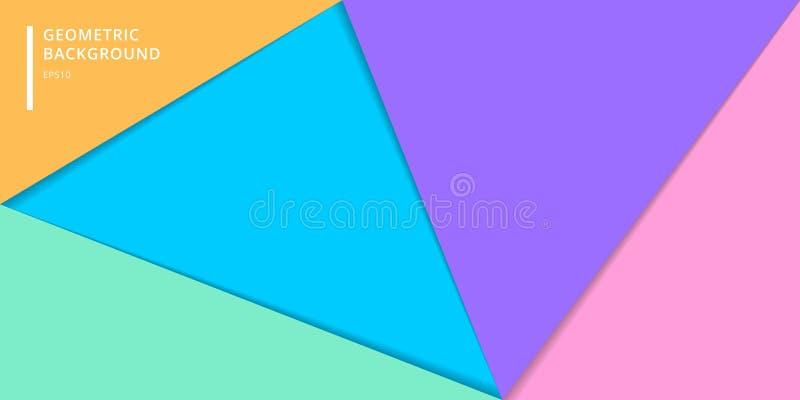P?gina web de la bandera de la plantilla del fondo de papel colorido acodado del estilo Tri?ngulos geom?tricos abstractos para el libre illustration