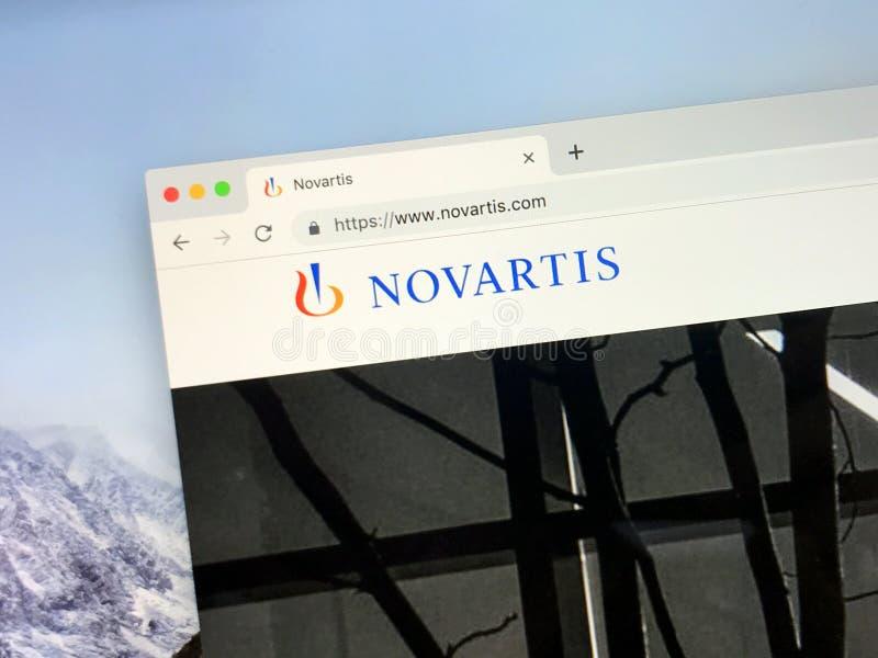 Página web de Novartis foto de archivo libre de regalías