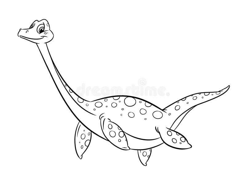 Páginas da coloração do dinossauro ilustração do vetor