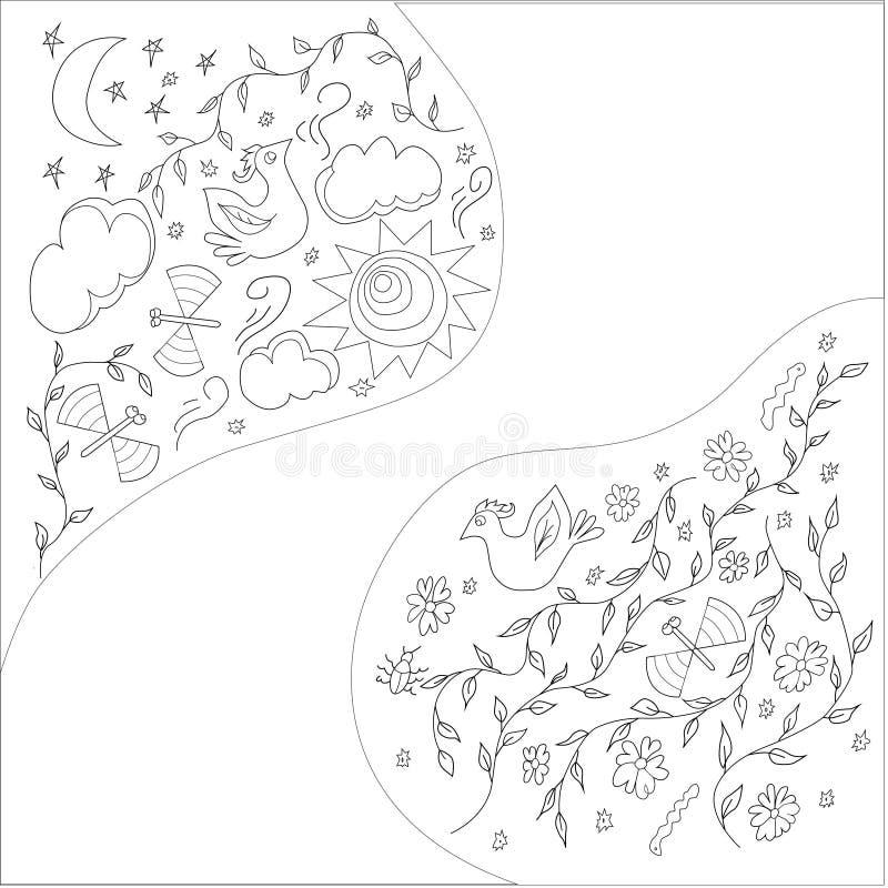 Páginas da coloração para adultos Livro de coloração imagem de stock