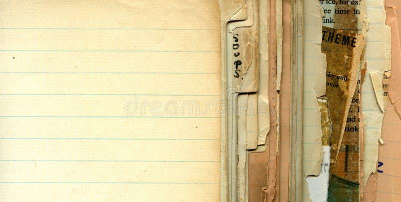 Páginas da receita do vintage fotografia de stock
