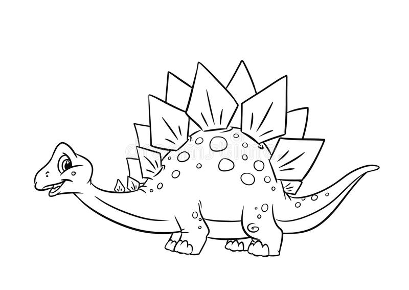 Páginas del colorante del Stegosaurus del dinosaurio ilustración del vector