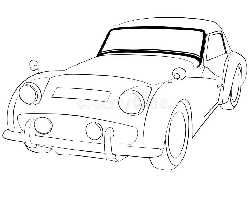 Páginas del colorante para imprimir el coche Triumph_TR3 imagen de archivo