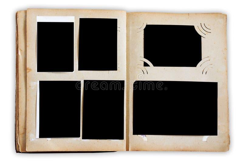 Páginas do álbum de foto do vintage fotos de stock royalty free