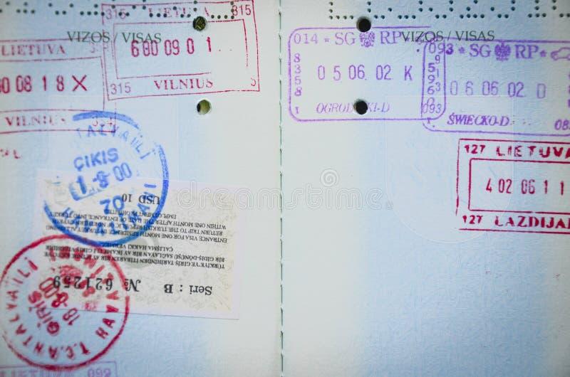 Páginas do passaporte imagem de stock