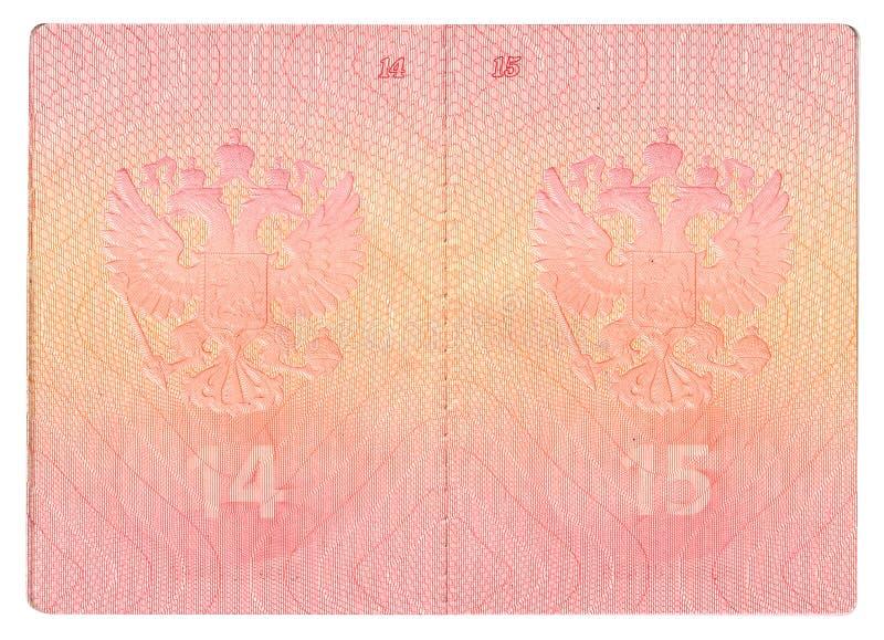 Páginas do passaporte fotos de stock royalty free