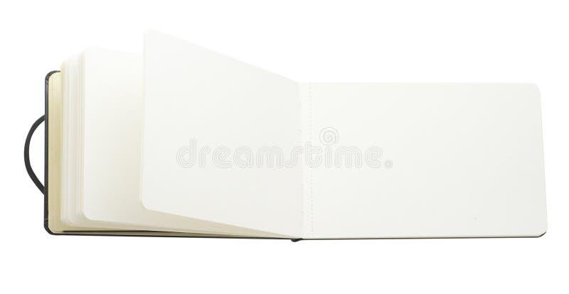 Páginas em branco do livro imagens de stock