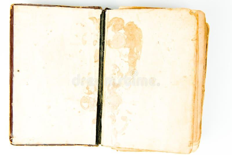 Páginas en blanco del libro abierto del vintage fotografía de archivo libre de regalías