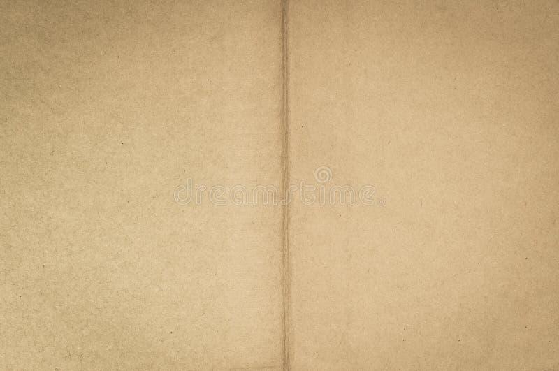 Páginas en blanco del papel de libro viejo imagen de archivo libre de regalías