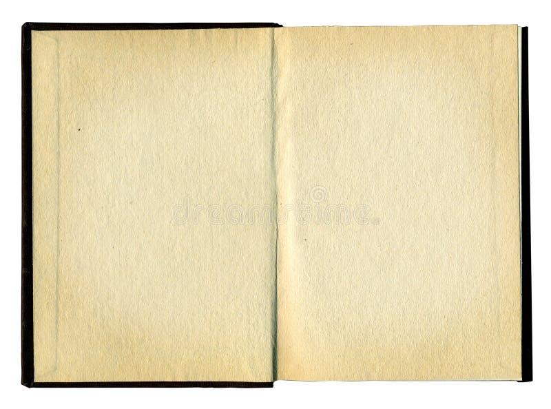 Páginas en blanco en un libro viejo imagen de archivo libre de regalías